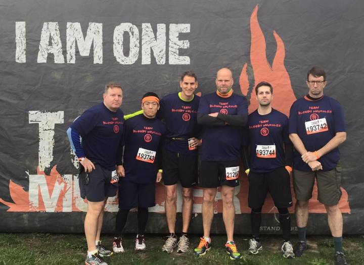 Tough Mudder   Team Bloody Knuckles T-Shirt Photo