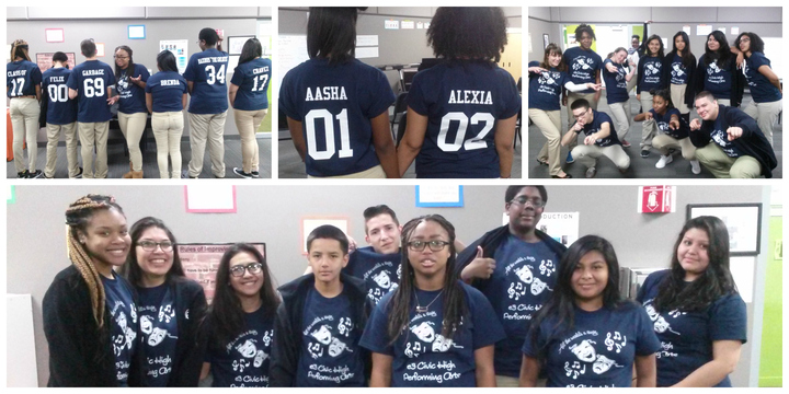 E3 Civic High Choir And Drama Students T-Shirt Photo