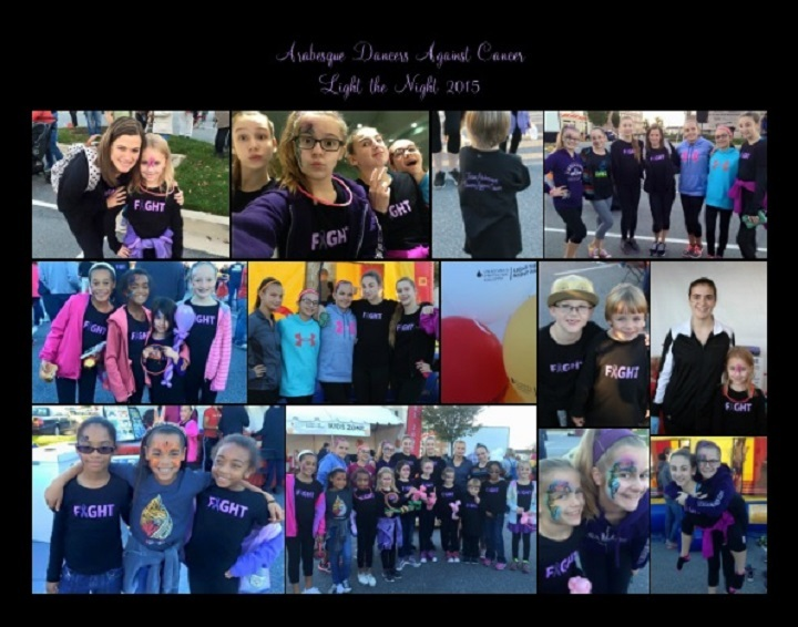 Arabesque Dancers Against Cancer Light The Night T-Shirt Photo