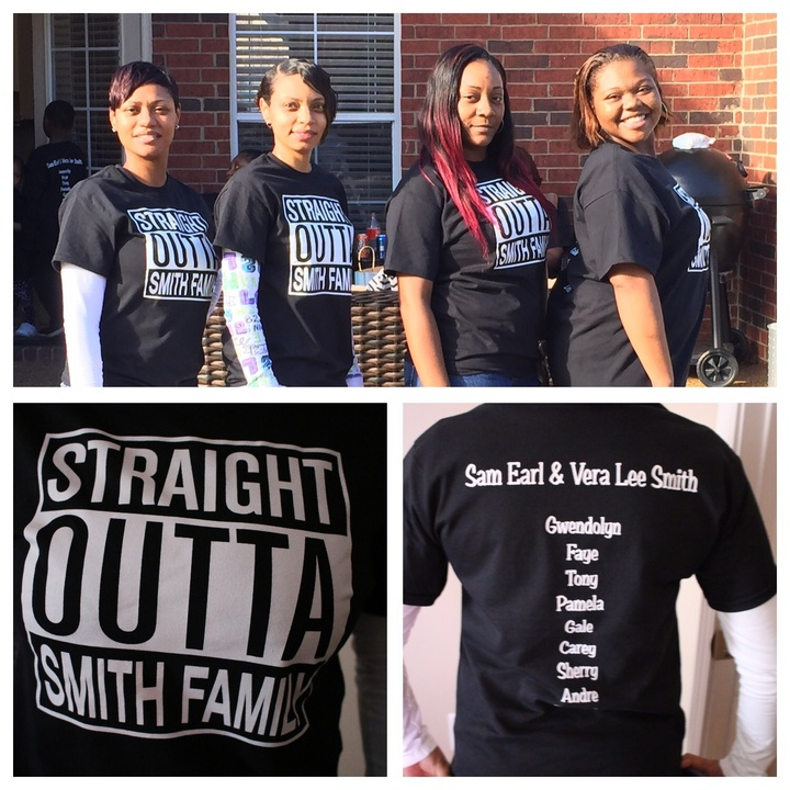 Straight Outta Smith Family T-Shirt Photo