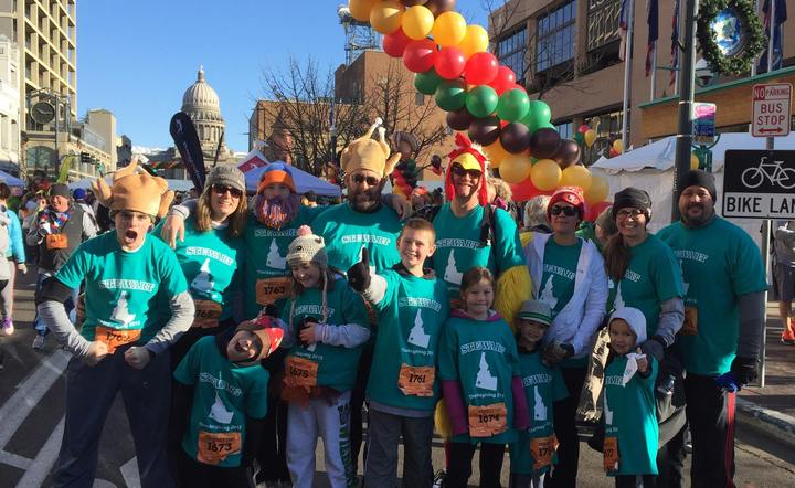 The Stewart Family Takes On The Boise Turkey Trot, 2015. T-Shirt Photo
