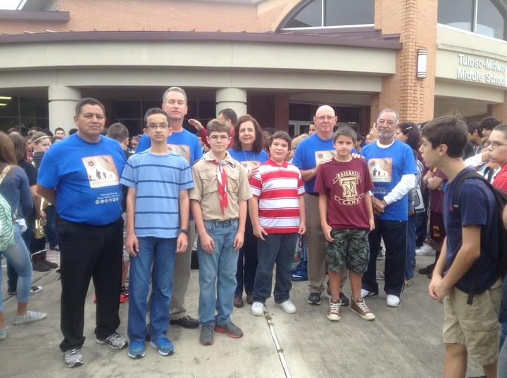 Tm Middle School Celebrates Veterans T-Shirt Photo