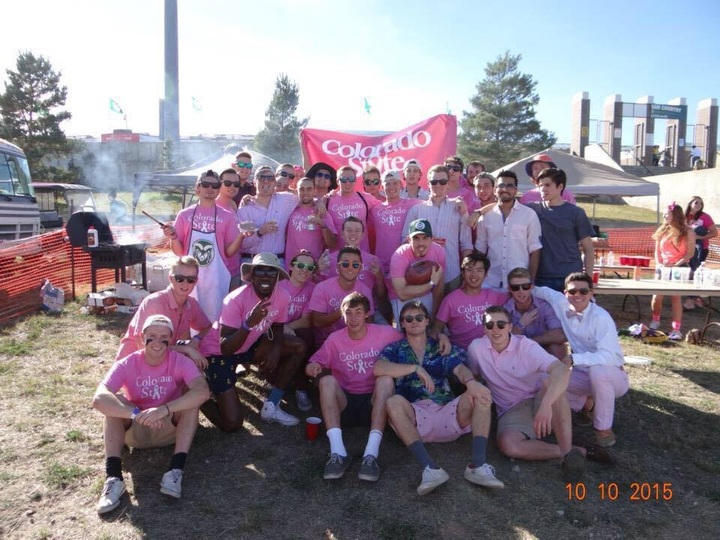 Csu Pink Out Supporting Breast Cancer T-Shirt Photo