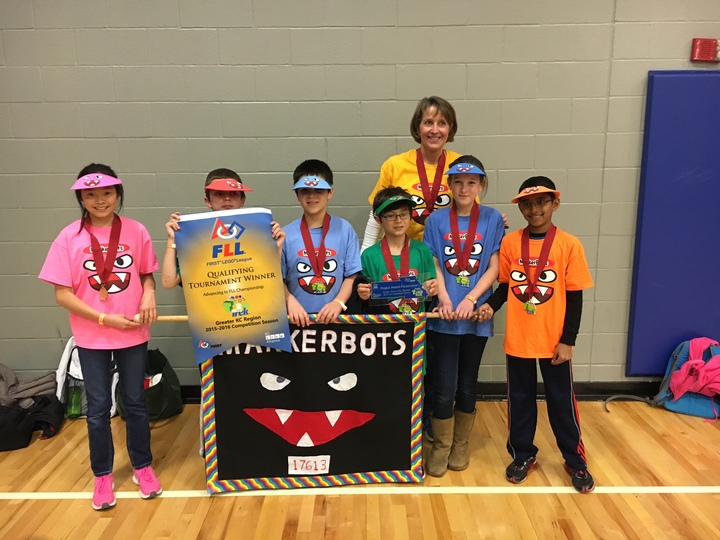 Award Winning Marker Bots At First Lego League Tournament T-Shirt Photo