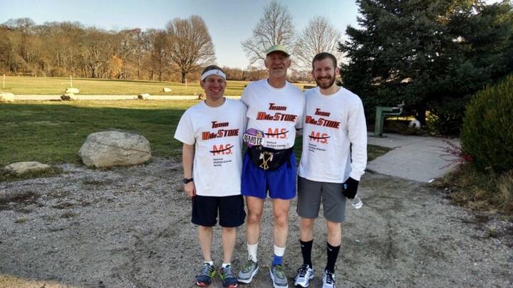 Team Mile Stone Hits The Pavement T-Shirt Photo