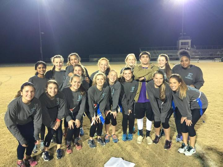 Carrboro High School Senior Powderpuff Team T-Shirt Photo