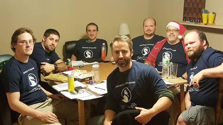 Rolling Dice, Vanquishing Evil, All In A Night's Work T-Shirt Photo