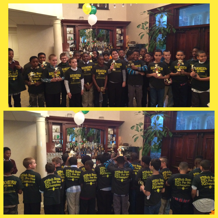 Hamden Hurricanes Jr. Pee Wee Bob Boss Champions T-Shirt Photo