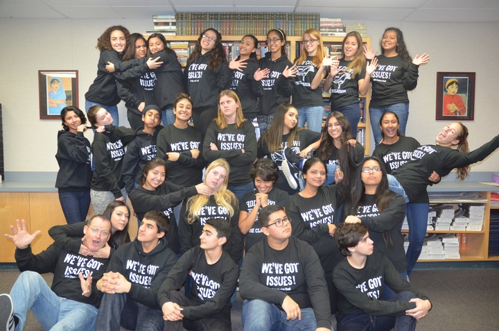 Selma High School Newspaper (The Clarion) Staff T-Shirt Photo