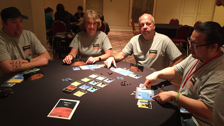 Playing Project Mars At Strategicon L.A. T-Shirt Photo