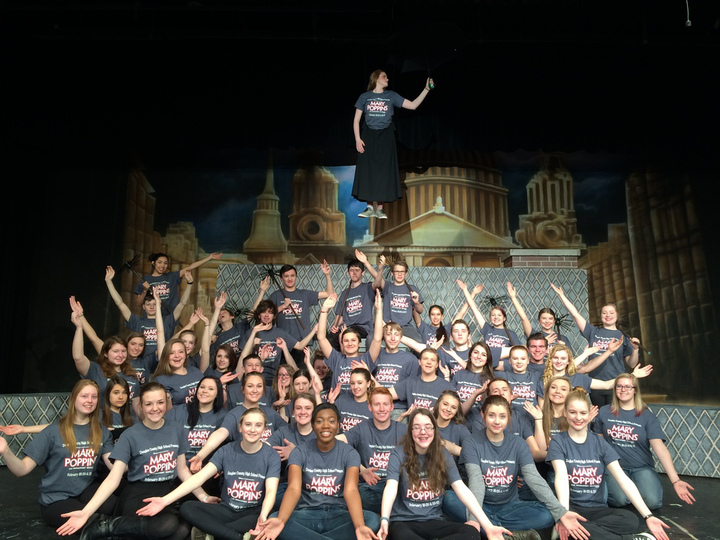 Mary Poppins Flies To Douglas County High School!! T-Shirt Photo
