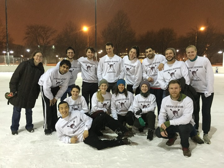 Darwin's Revenge At The Broomball Quarterfinals! T-Shirt Photo