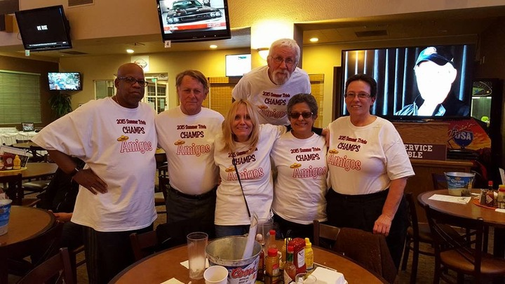 Amigos Trivia Champs! T-Shirt Photo