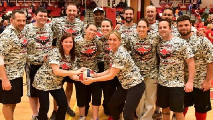 Half Hollow Hills Hs East Staff Volleyball Team 2016  T-Shirt Photo