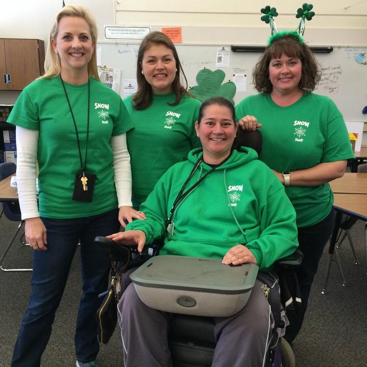 Snow Teachers Celebrating St. Patrick's Day  T-Shirt Photo