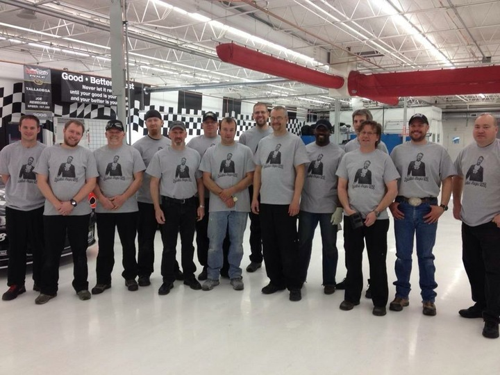 Nascar Mechanic's Birthday Party  T-Shirt Photo