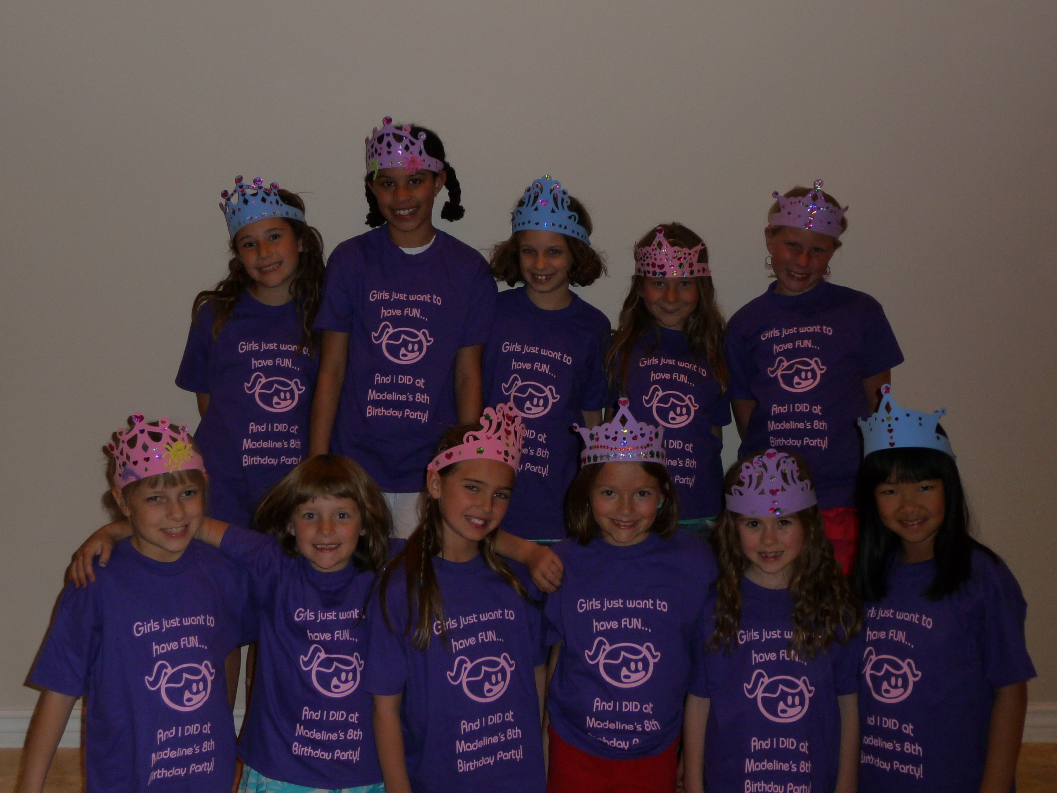 Design your own t-shirt birthday party - Madeline S 8th Birthday Party T Shirt Photo