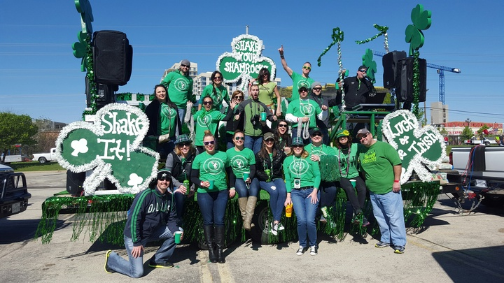 Shake Your Shamrocks In The Dallas Greenville Ave. Parade 2016 T-Shirt Photo