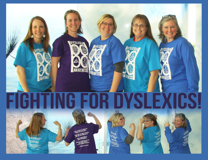 Fighting For Dyslexia T-Shirt Photo