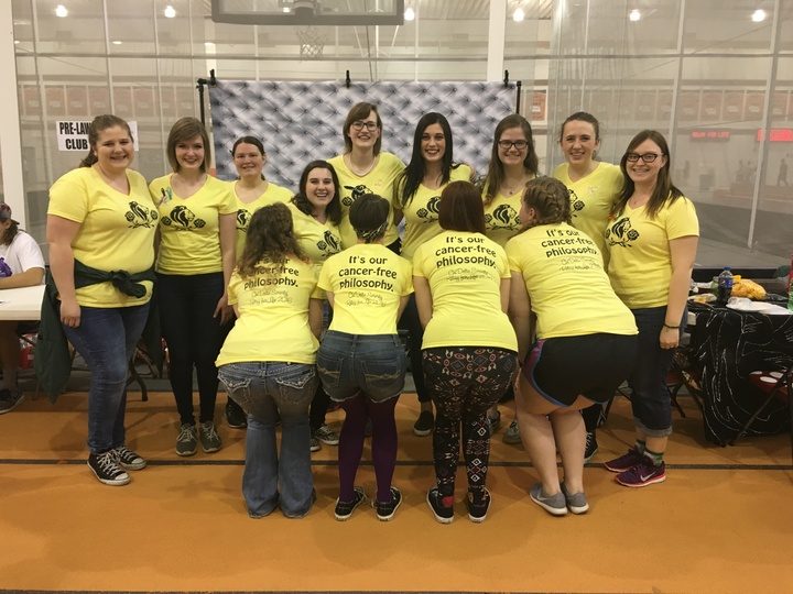 Chi Delta Sorority Relay For Life T-Shirt Photo