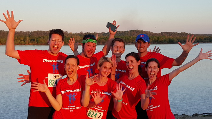 Tramps Like Us   Illinois River To River Relay Finish! T-Shirt Photo
