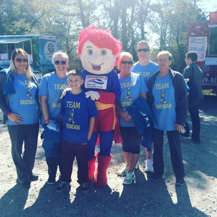 Team Brendan Autism De Walk 2016 T-Shirt Photo