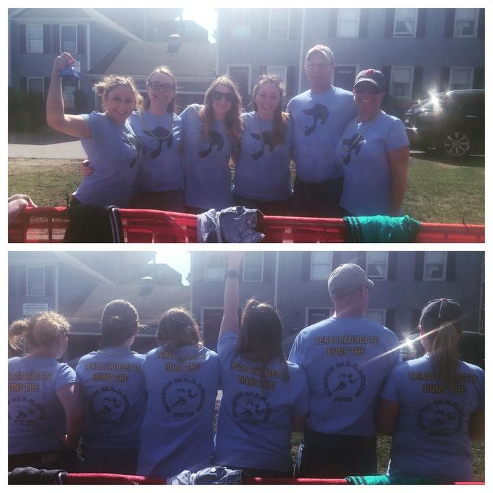 Team Caouette In The Boston Marathon!  T-Shirt Photo