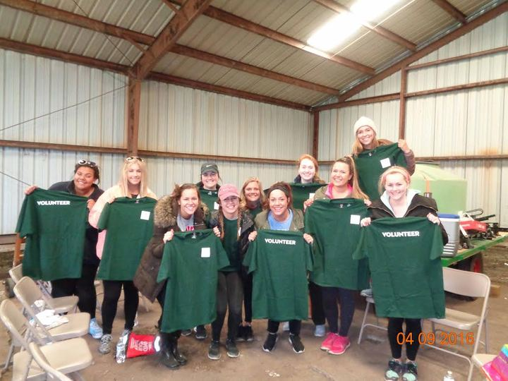 Tri Delta Volunteers At Rhymer Preserve T-Shirt Photo