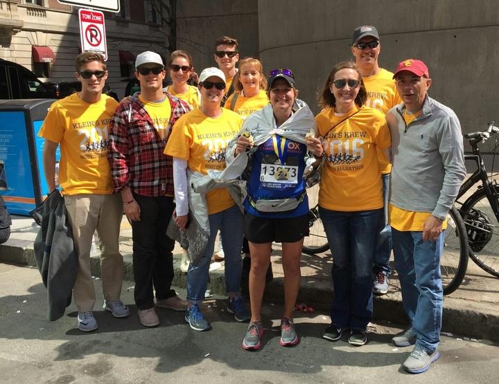 Klein's Krew At The 2016 Boston Marathon T-Shirt Photo