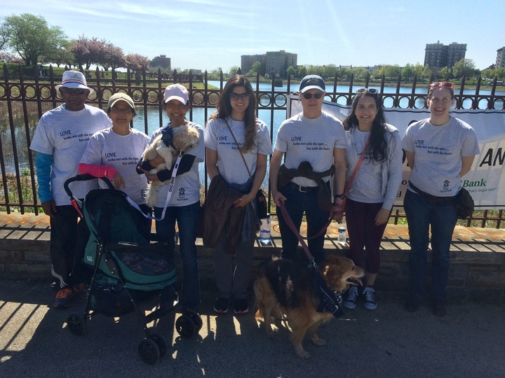 Team Hirschel Marching To Promote Adoption Of Blind And Senior Pets T-Shirt Photo