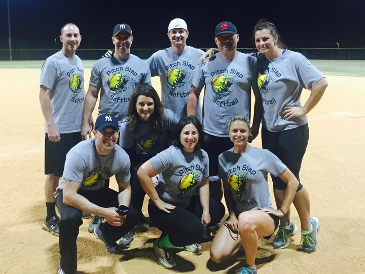 Pitch Slap Softball Takes The Field T-Shirt Photo