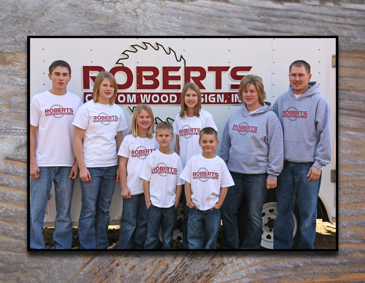 Roberts Custom Wood Design Inc Family T-Shirt Photo