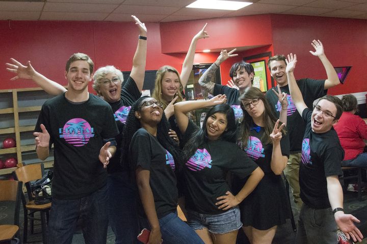 Having Fun At The Dmc's End Of Year, Happy Graduation, Student Employee Appreciation Bowling Party! T-Shirt Photo