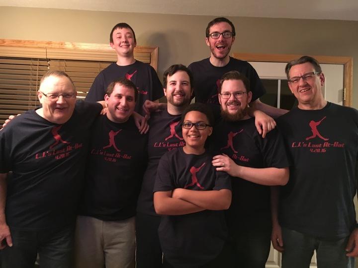 C.J.'s Last At Bat T-Shirt Photo