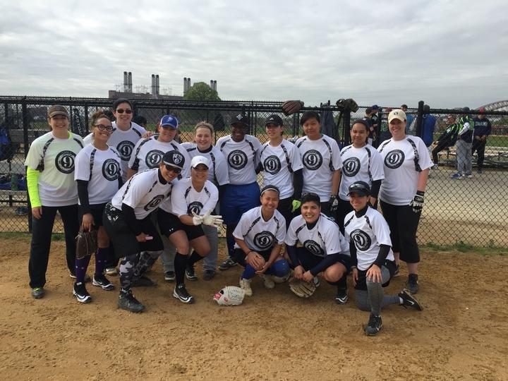Bar 9 Softball Team T-Shirt Photo