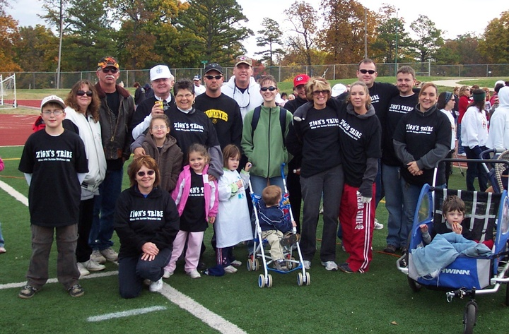Our Team At Sw Missouri Walk For Autism Research 2006 T-Shirt Photo