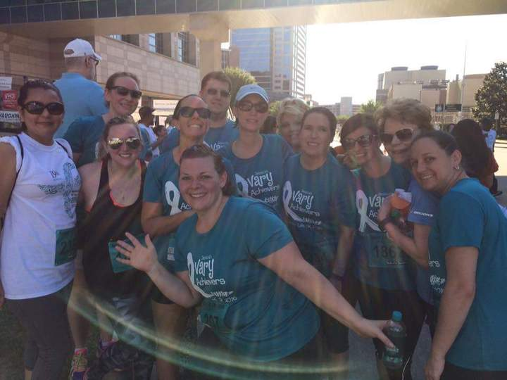 Jessica's Ovary Achievers   Sprint For Life 5k 2016 T-Shirt Photo