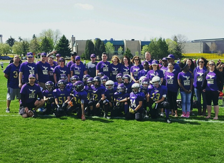 Cs Vikings Spring Football T-Shirt Photo