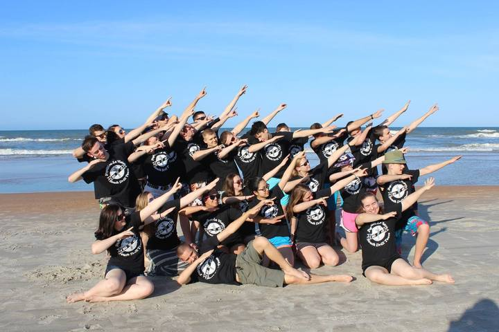 2016 National Drill Team Beach T-Shirt Photo