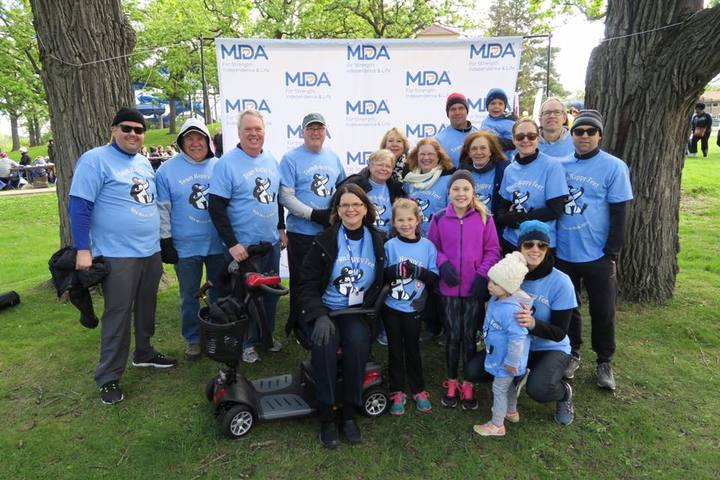 Team Happy Feet Mda Muscle Walk T-Shirt Photo