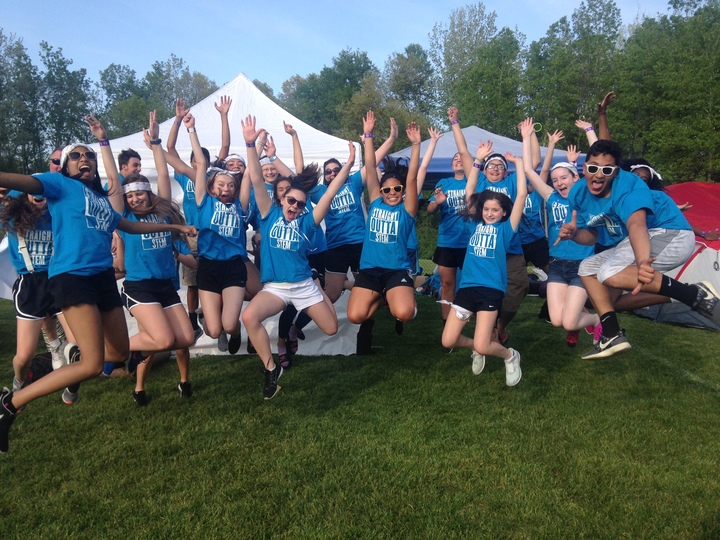 Jumping For Relay For Life T-Shirt Photo