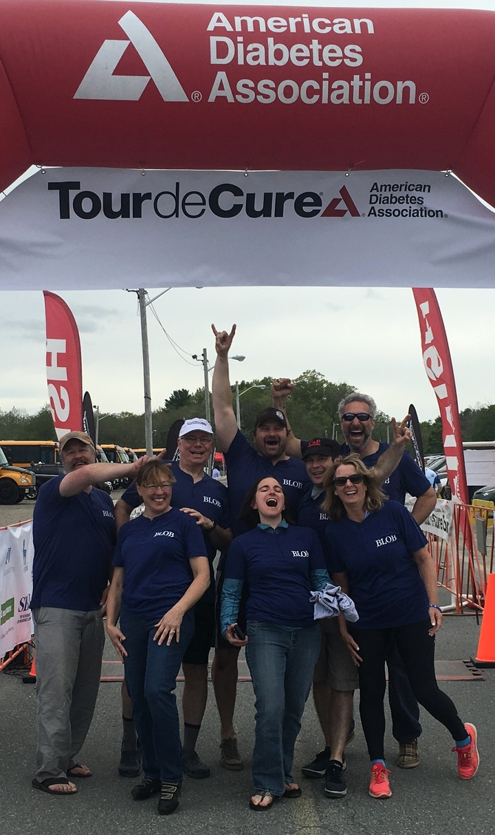 Team Blob At The Tour De Cure T-Shirt Photo