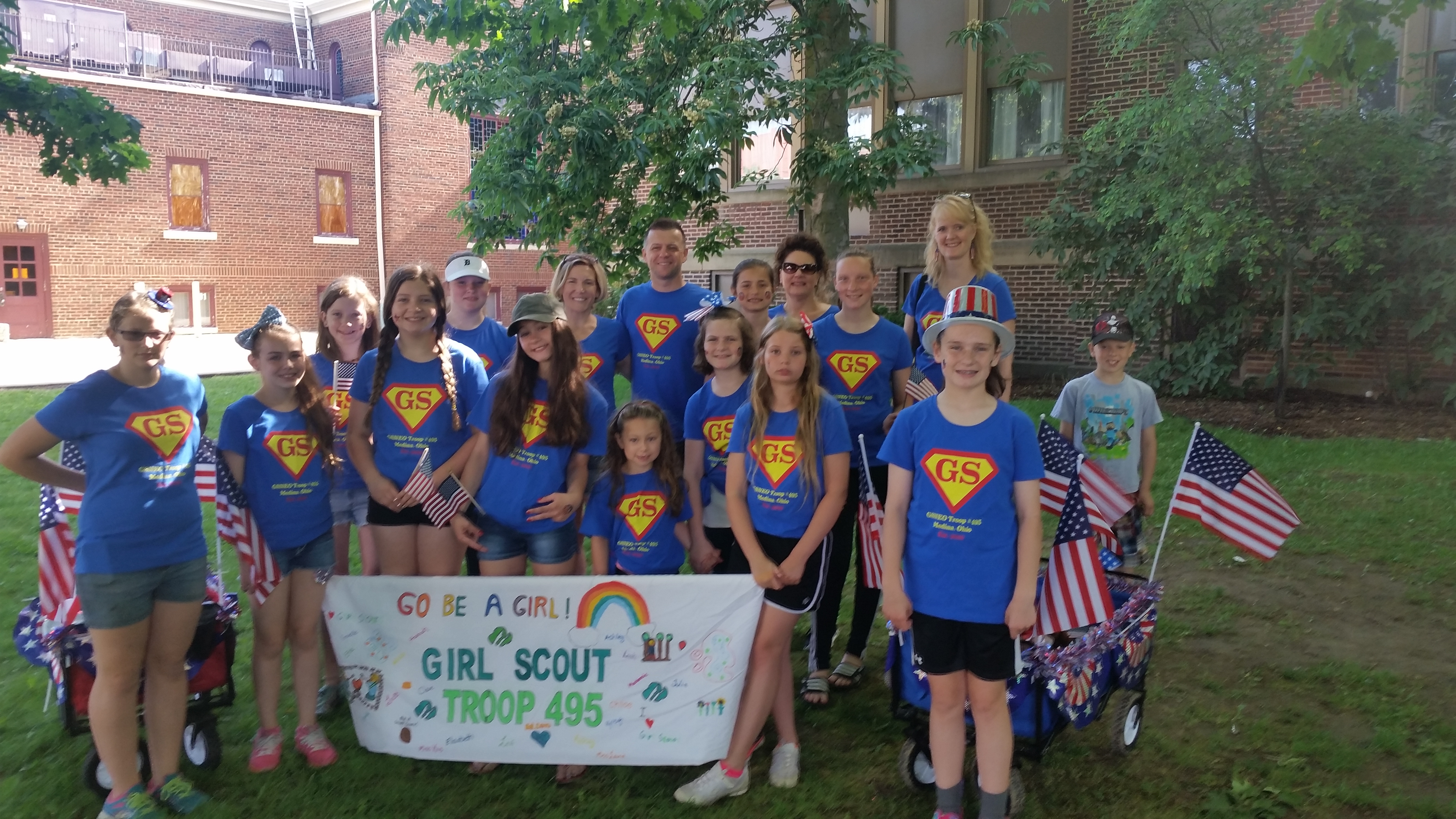Custom t shirts for medina oh girl scout troop 495 for Girl scout troop shirts