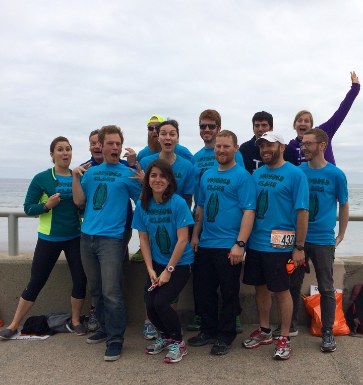 Wounded Clams Getting Ready To Ragnar!! T-Shirt Photo