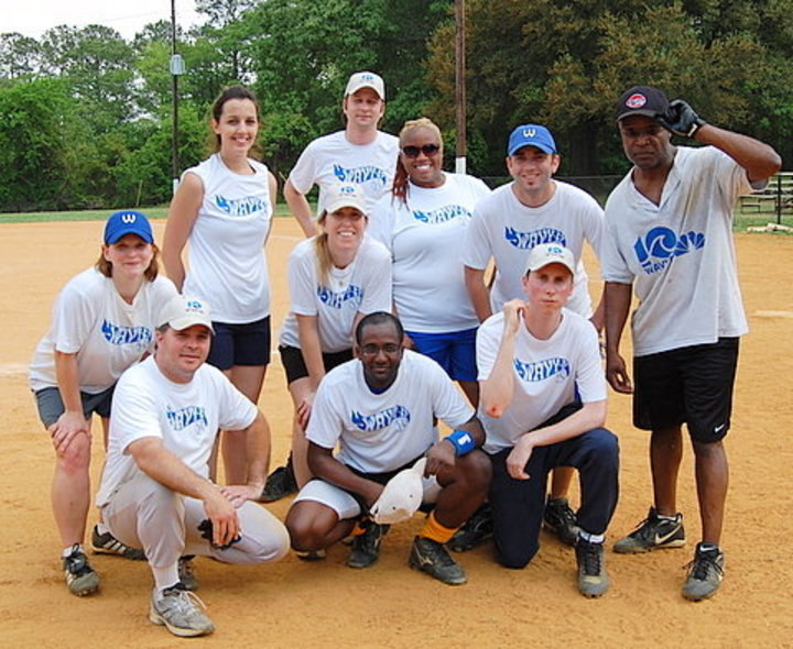 Wavy Tv Softball Team T-Shirt Photo