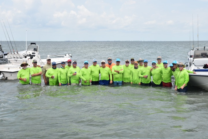 19th Annual Hook In Up Fishing Trip T-Shirt Photo