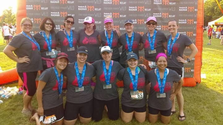 2016 Chicago Ragnar   Team Girls On Fire T-Shirt Photo