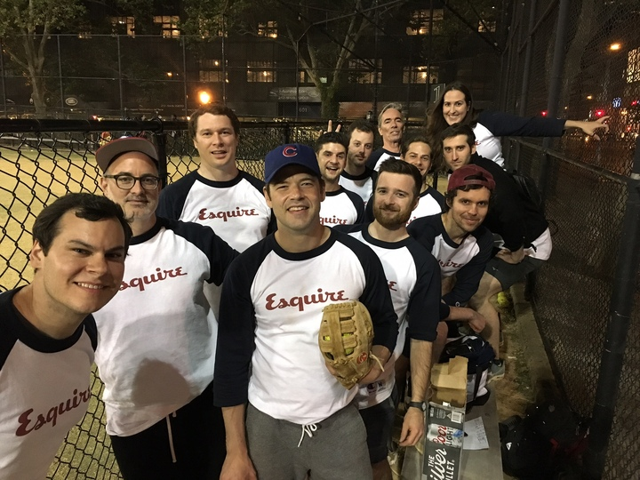 Esquire Softball Team T-Shirt Photo