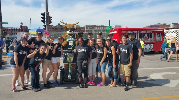 Milwaukee Bucks Block Party T-Shirt Photo