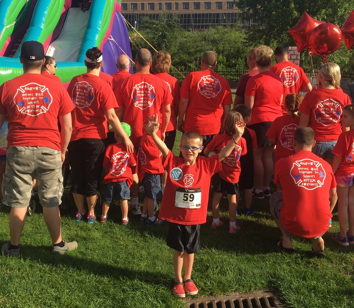 Andrew's Heroes Walk Together To Support Autism Awareness! T-Shirt Photo